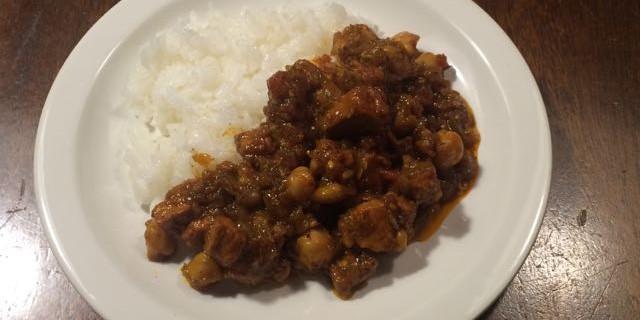 ヒヨコ豆とポークのカレー