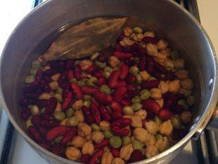 マッシュルームと豆のカレー
