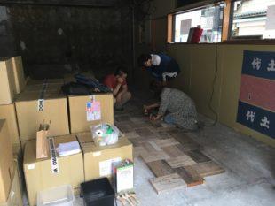 神田で床貼り