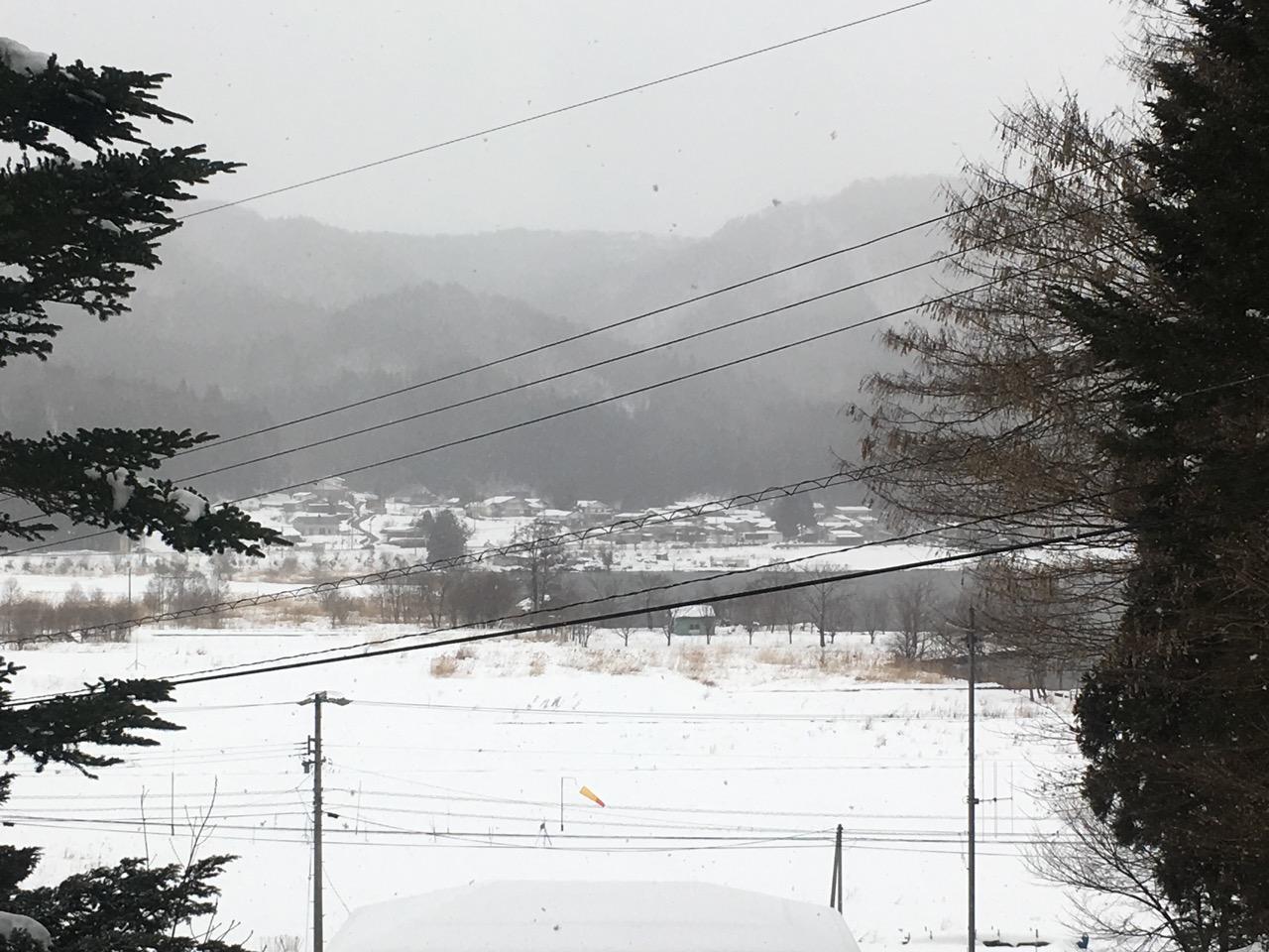 雪降ってるけどスキーしない正月