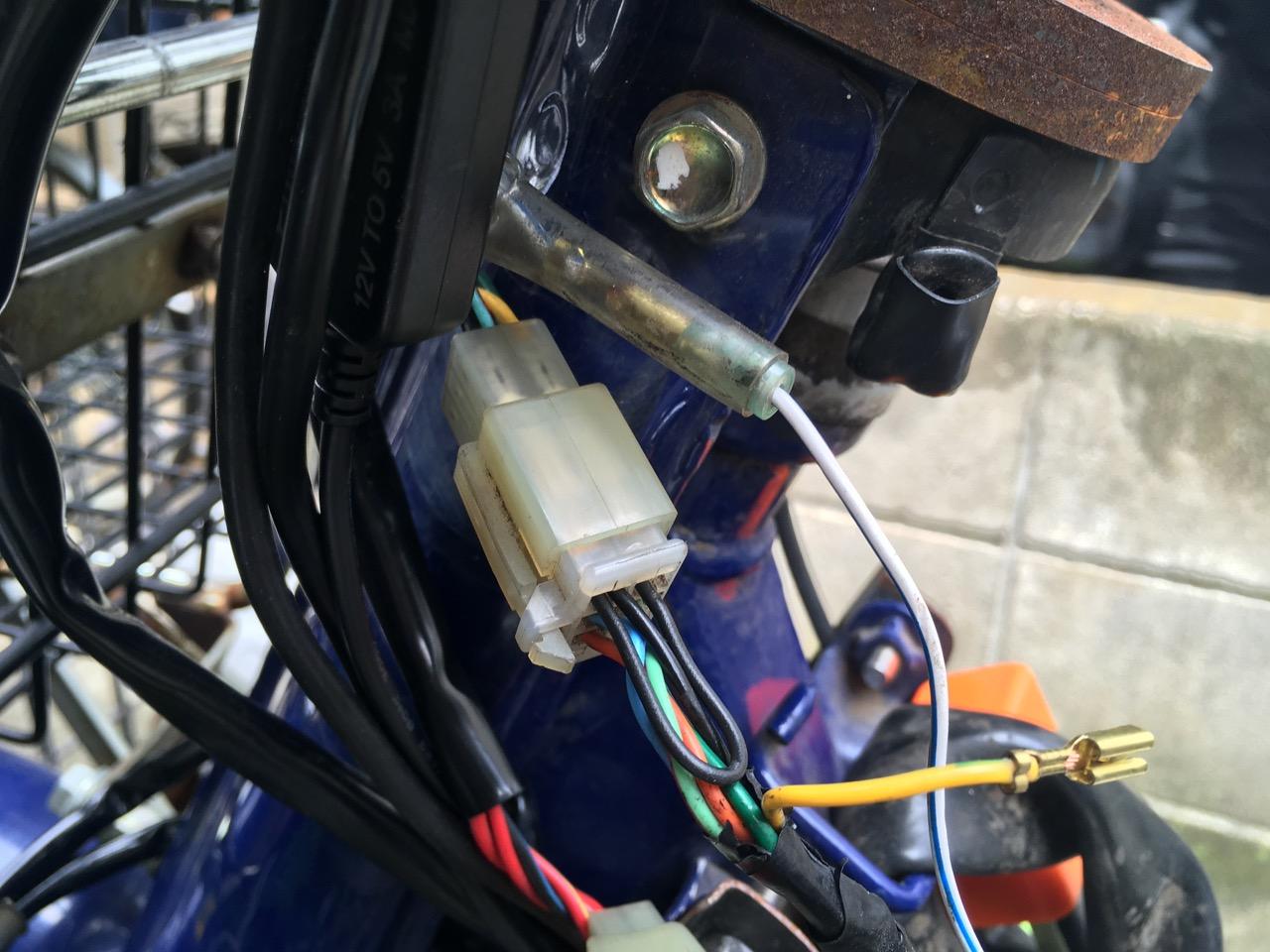 カブ メーター照明LED化