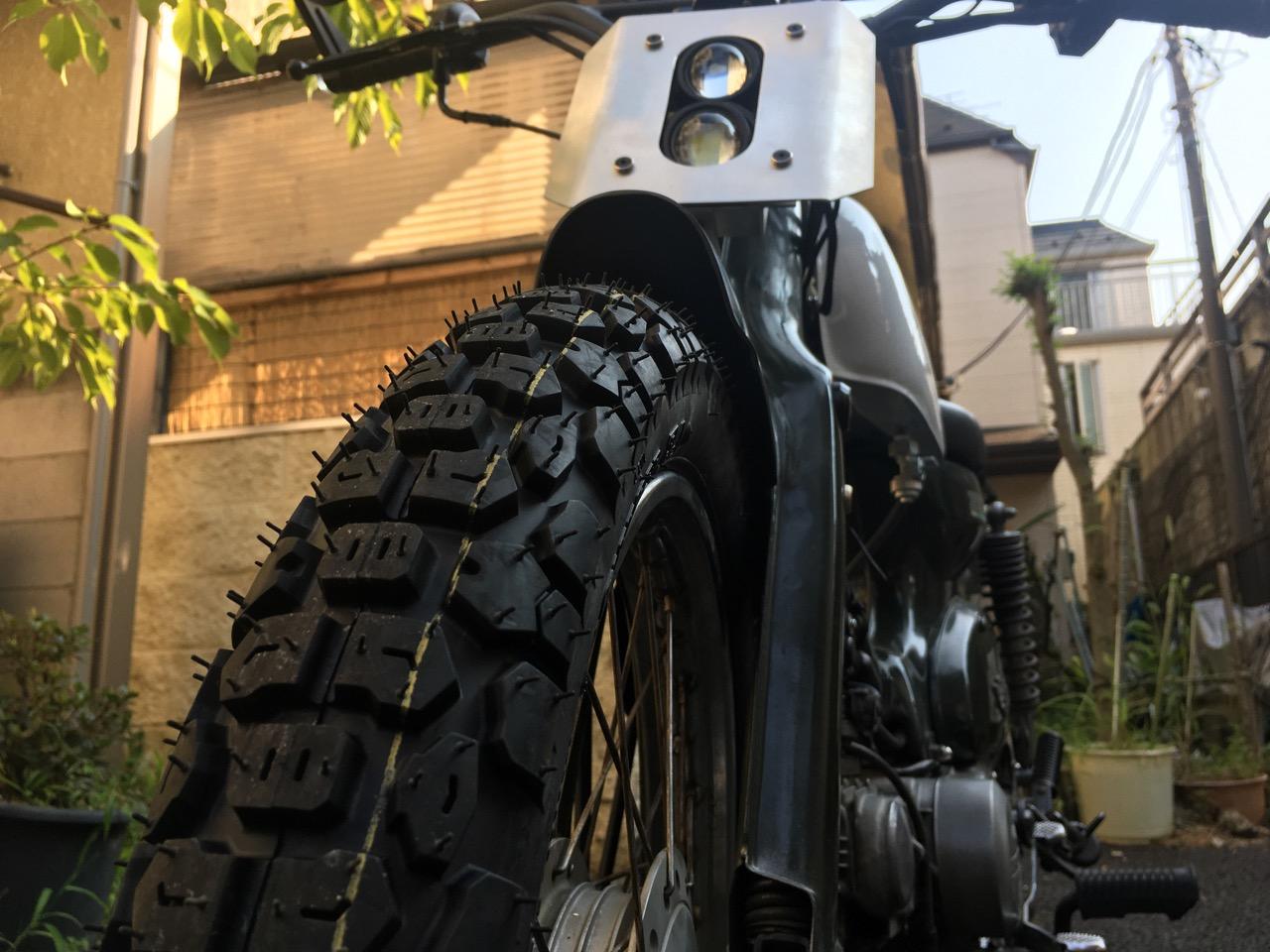 HA02 カブ90DX タイヤ交換